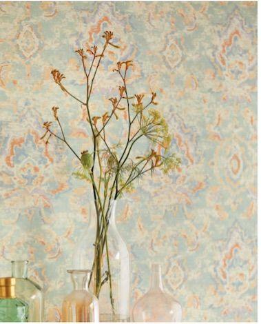 Eijffinger Sundari behang -vaal - oosters tapijt - interieur