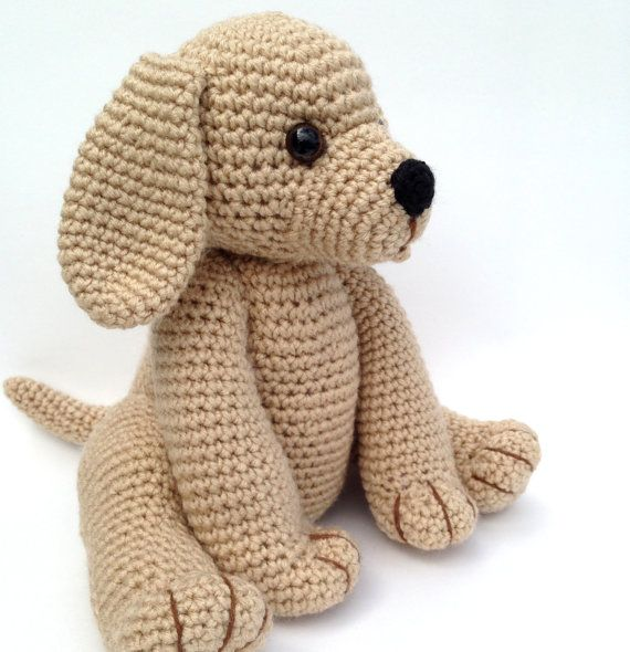 Crochet Amigurumi Dog : Pdf crochet pattern golden retriever puppy by bvoe on