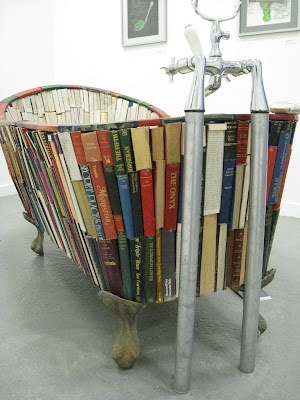A bath made of books - and it's waterproof!