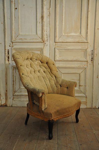 large napoleon 3 period armchair