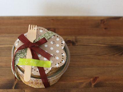お菓子のラッピング お正月 シフォンケーキ