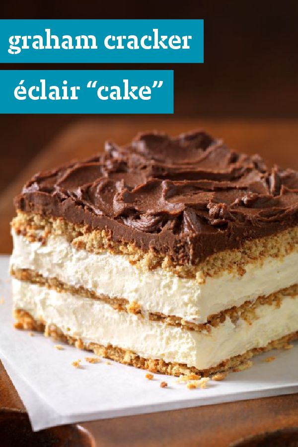 "Graham Cracker Eclair ""Cake"" – Delight all your party guests with our deliciously airy Graham Cracker Eclair Cake recipe. Graham cracker layers become cake-like and soft alongside the pudding for a quick dessert for any occasion. Get the ingredients you need delivered to your home with Instacart where available."