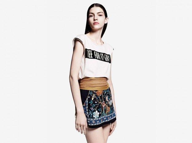 Gonna con stampa etnicaDalla collezione primavera estate 2013 di abbigliamento Pull, gonna con stampa etnic