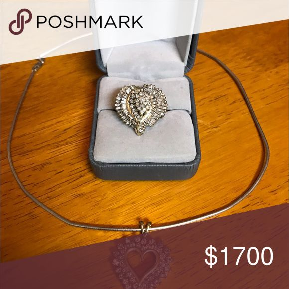 Dimond ring and necklace Really good condition highly quality Dimond 14kgold Jewelry Necklaces