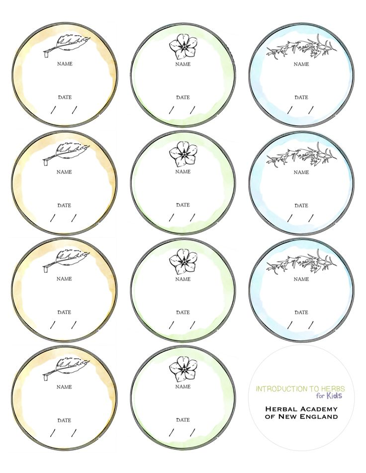 Print these Free Labels your apothecary - salves or dried herb storage