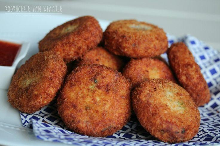 Super krokante aardappelburgers (Aardappelkoekjes) met tonijna