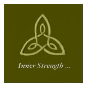 Green Celtic Symbol For Inner Strength Posters | Zazzle