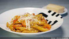 Receta de macarrones con tomates asados
