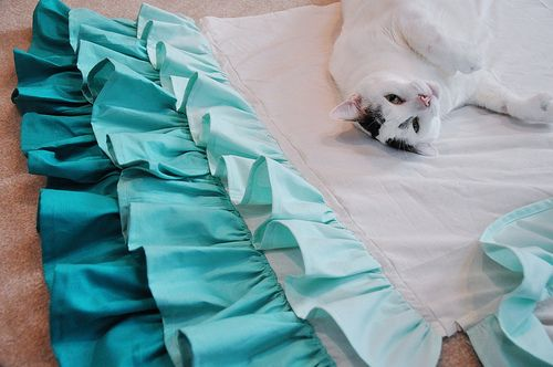 how to make a ruffled crib skirt (could go bigger with correct measurements!)