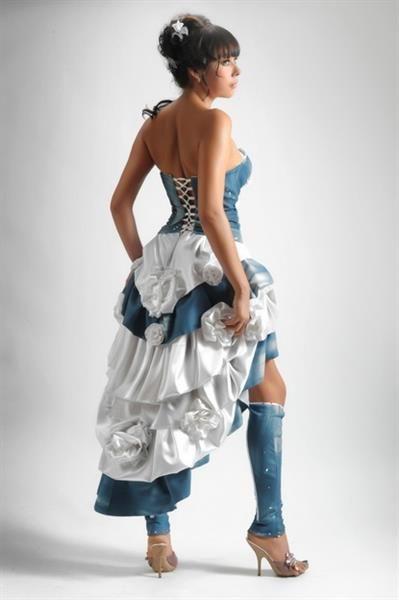 Свадебное платье джинсовое