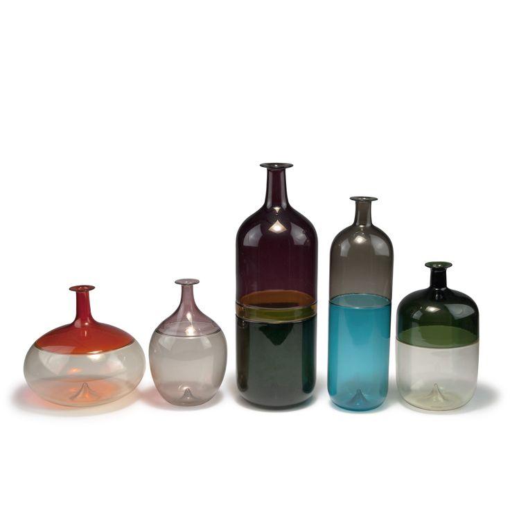 auction 116B - Tapio Wirkkala. Five 'Bolle' vases, 1966-68.