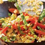 Stir-Fried Carrots, Corn & Peppers