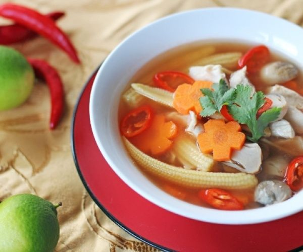 Thai Style Hot and Sour Chicken Soup | Recipes | Pinterest
