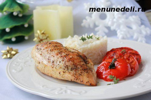 Куриные кармашки с начинкой из сыра и помидоров