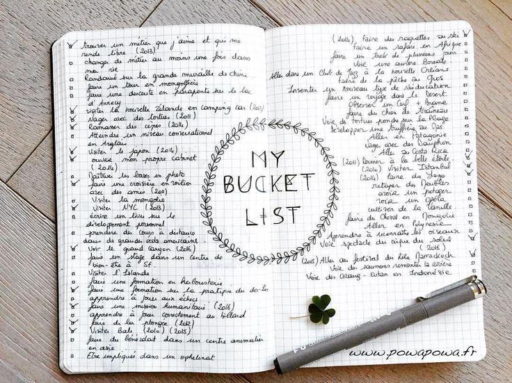 Bucket liste (BLOG A VOIR !)                                                                                                                                                                                 Plus