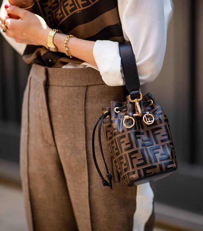 Best Fendi bags: Street style carrying the Mon Trésor leather mini bag
