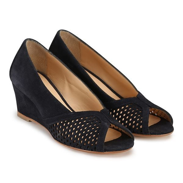 Pump sandal med kilehæl