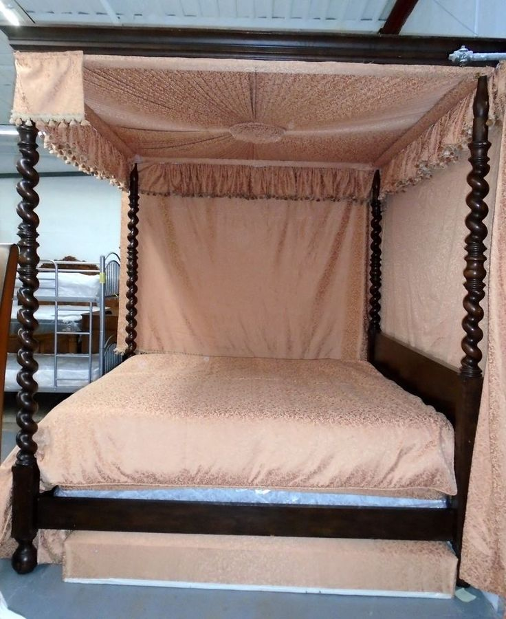 Beautiful Crafted King Size Canopy Bed by Baker Furniture #Baker