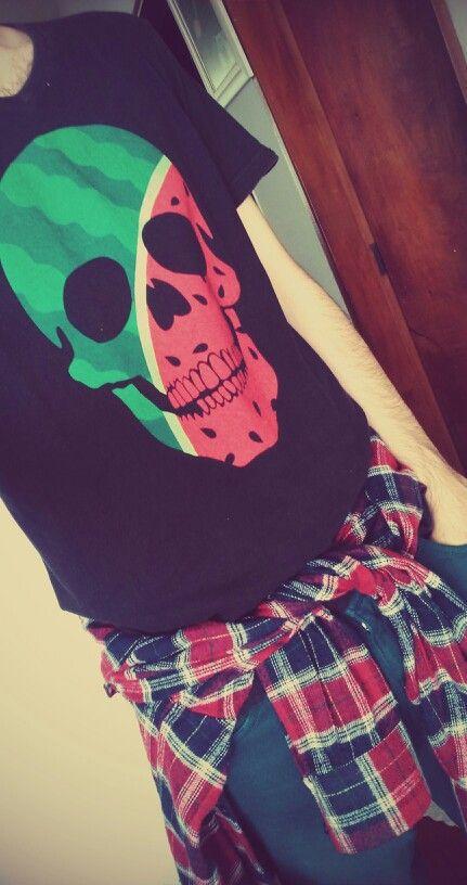 Watermelon skull