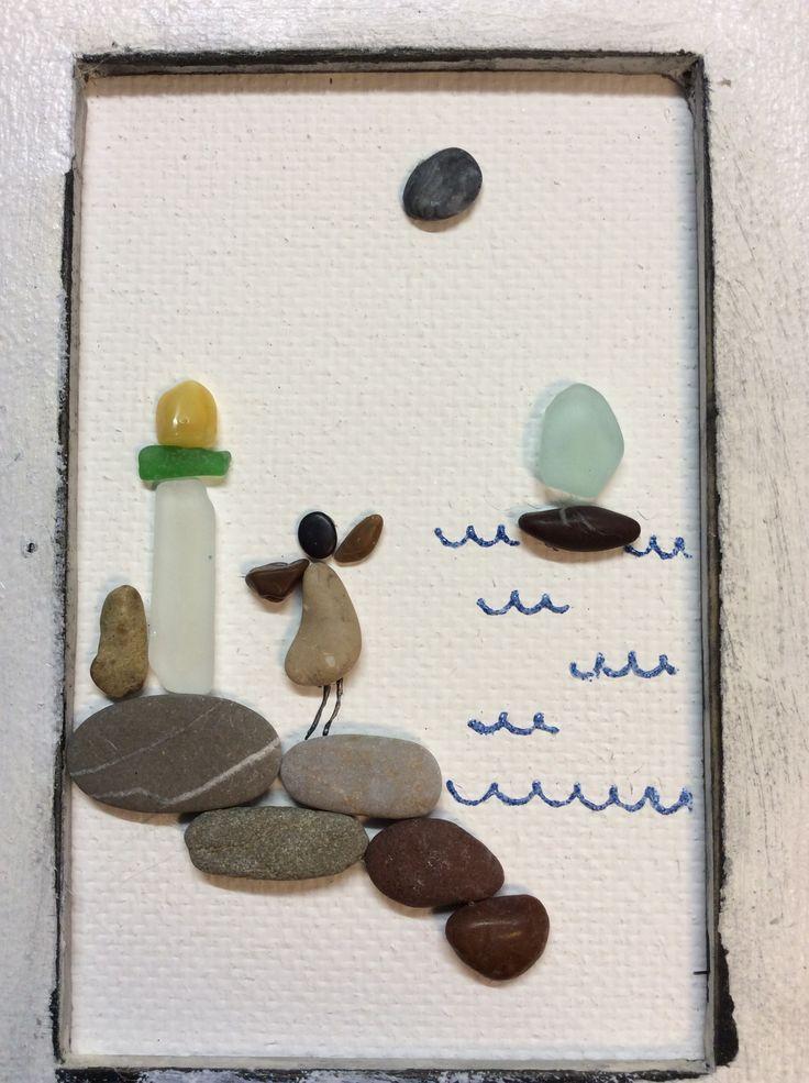 Картинка из камушков и see glass
