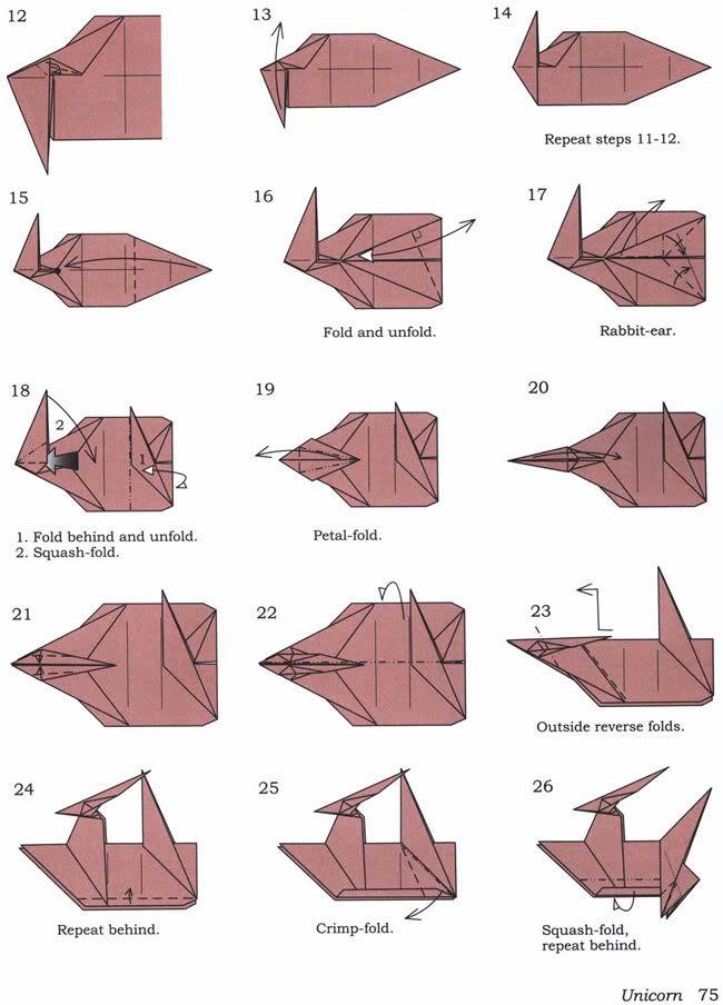 Origami Licorne **