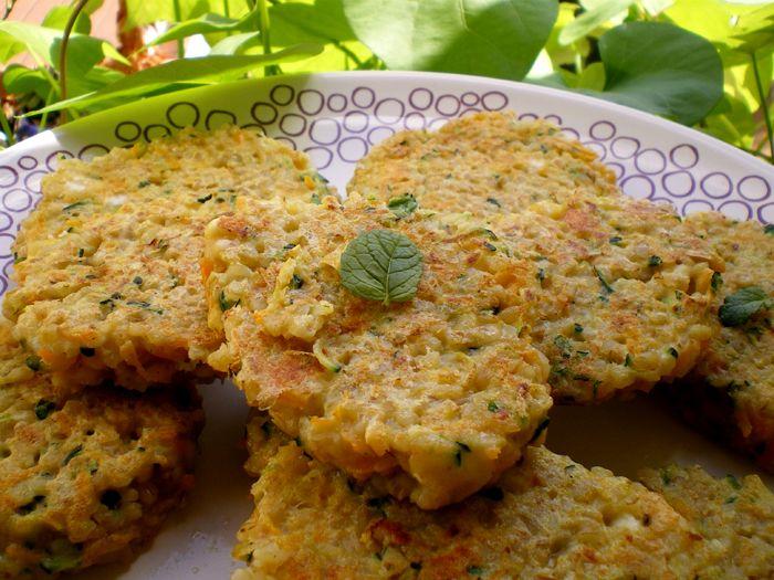 LES METS TISSÉS: Cuisine d'ici et d'ailleurs: GALETTES DE BOULGOUR AUX LEGUMES