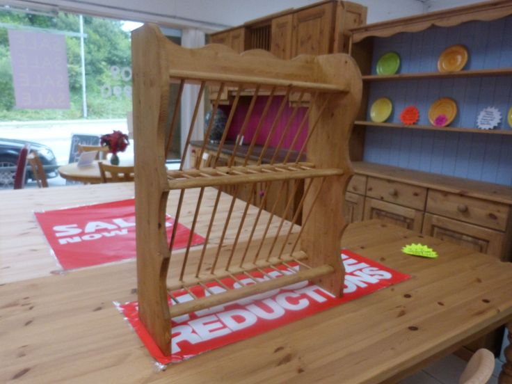 Hand made plate rack - www.lowennaspinefurniture.co.uk