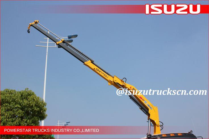 10 wheels Heavy Duty Isuzu Knuckle Boom Truck Crane, ISUZU Crane trucks