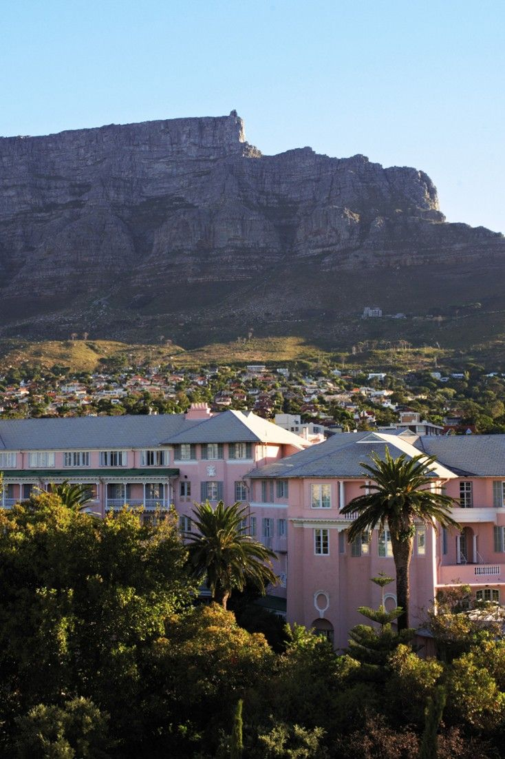 In the shadow of Table Mountain, the Belmond Mount Nelson Hotel is a classic Cape Town retreat. #Jetsetter  76 Orange Street Cape Town, South Africa