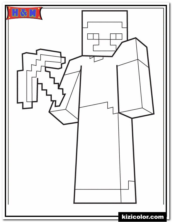 Minecraft Pickaxe Coloring Page Youngandtae Com Minecraft Coloring Pages Coloring Pages Minecraft