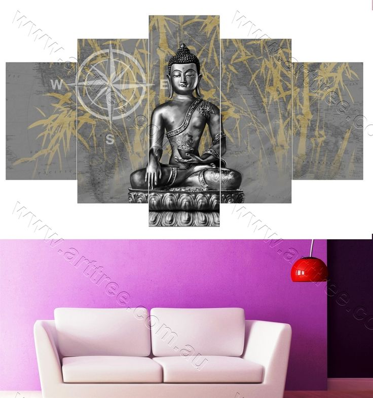 Grey buddha housewarming wrapped canvas prints housewarminggift buddhadecor goddess