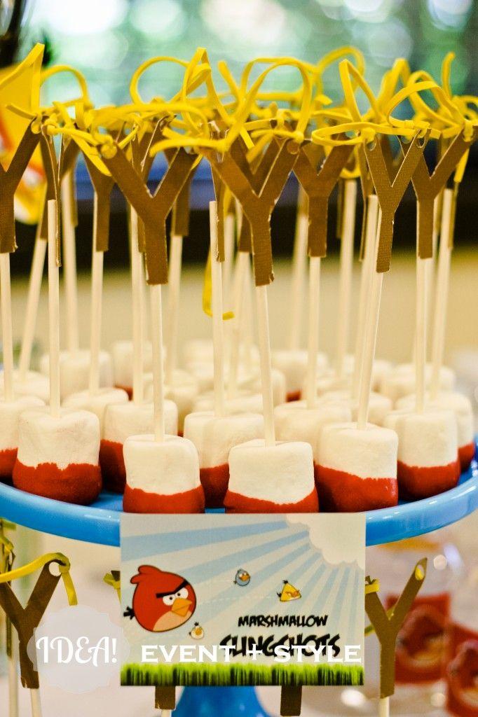 Marshmallow Slingshots #angrybirds