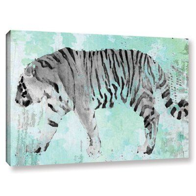 """World Menagerie 'Siberian Tiger II' Painting Print on Wrapped Canvas Size: 16"""" H x 24"""" W x 2"""" D"""