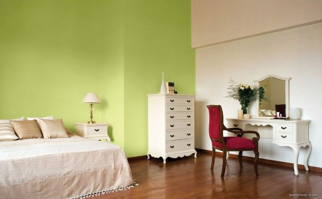 Green Wall Paint For Bedroom Classy Design Ideas