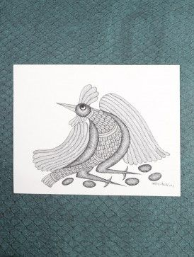 Rooster Gond Painting by Manoj Tekam