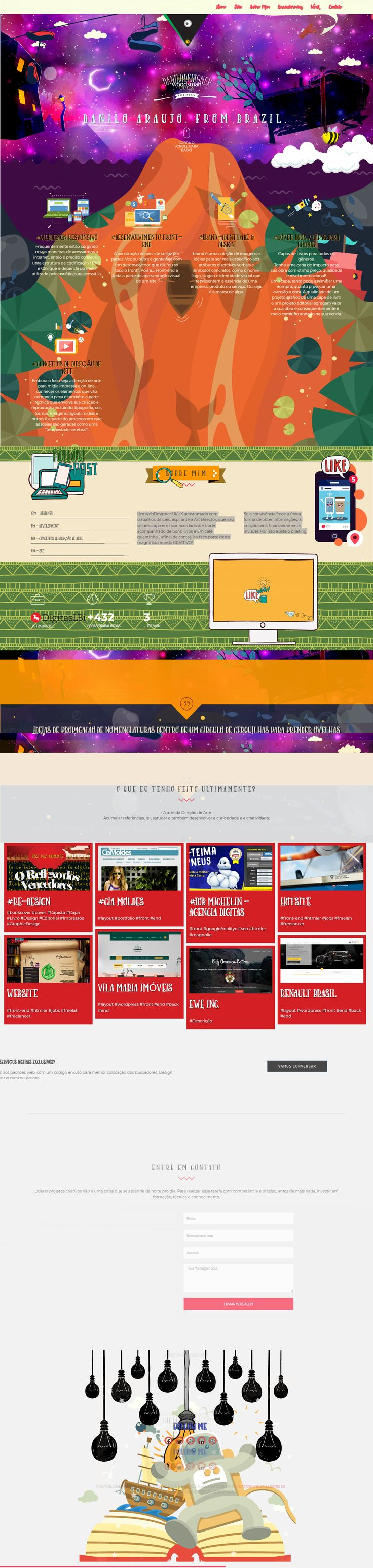 The 25 best jquery show animation ideas on pinterest flat web portfolio danilodesigner html5 css3 layout frontend bootstrap resposive nvjuhfo Images