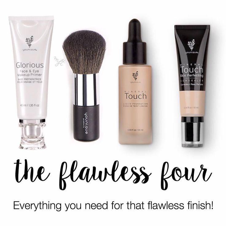The flawless four, liquid foundation, glorious face and eye primer, founda