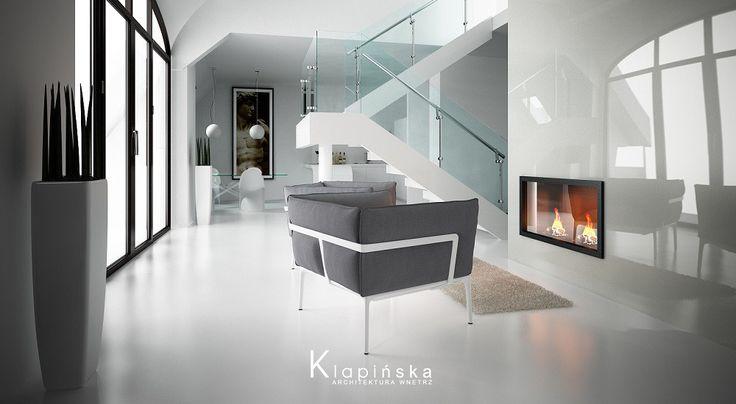 Klapińska architektura wnętrz - Apartament z antresolą - zobacz na myhome.pl