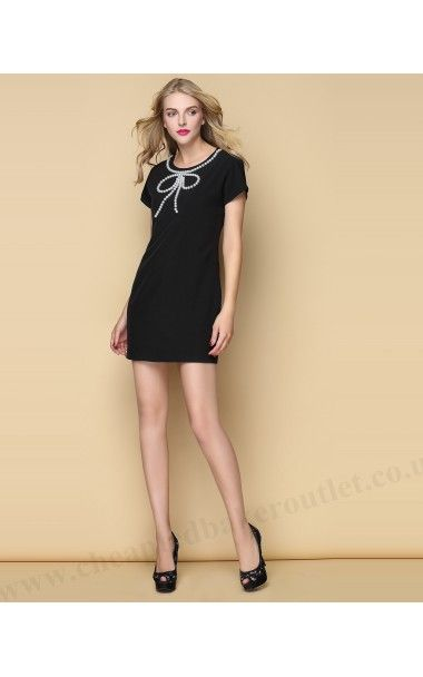 2015 Black Ted Baker Bow Tunic Dress Temberl Beaded