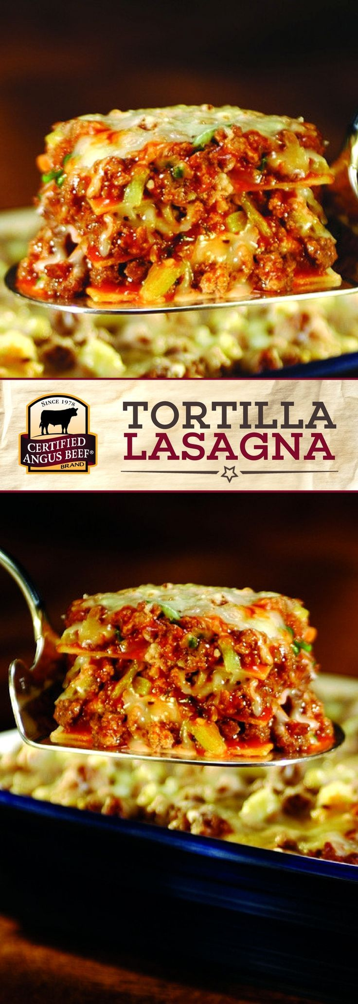 Certified Angus Beef®️️️️️ brand Tortilla Lasagna uses the best ground chuck combined with taco seasoning, green onions and salsa for a FLAVORFUL meal that your family will ask for again and again. This EASY recipe is the perfect meal for feeding a crowd, too!