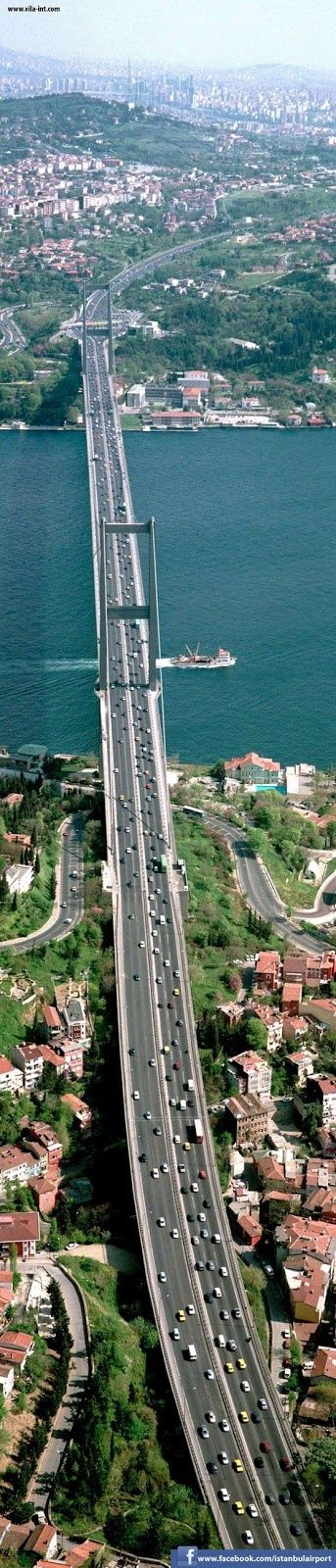 Amazing Snaps: Bosphorus Bridge, the Bridge that belongs to Two Continents | See more. Turkey
