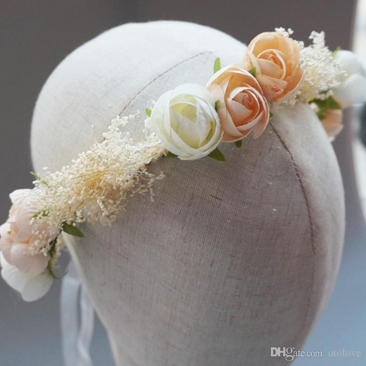 Baby Breath Wedding Crown Flowers Headwrap Headband Handmade Bridal Hair Wreath Wedding Hair Accessories New Arrivals Handmade Wedding Jewellery Headband For Wedding From Otolove, $12.97| Dhgate.Com