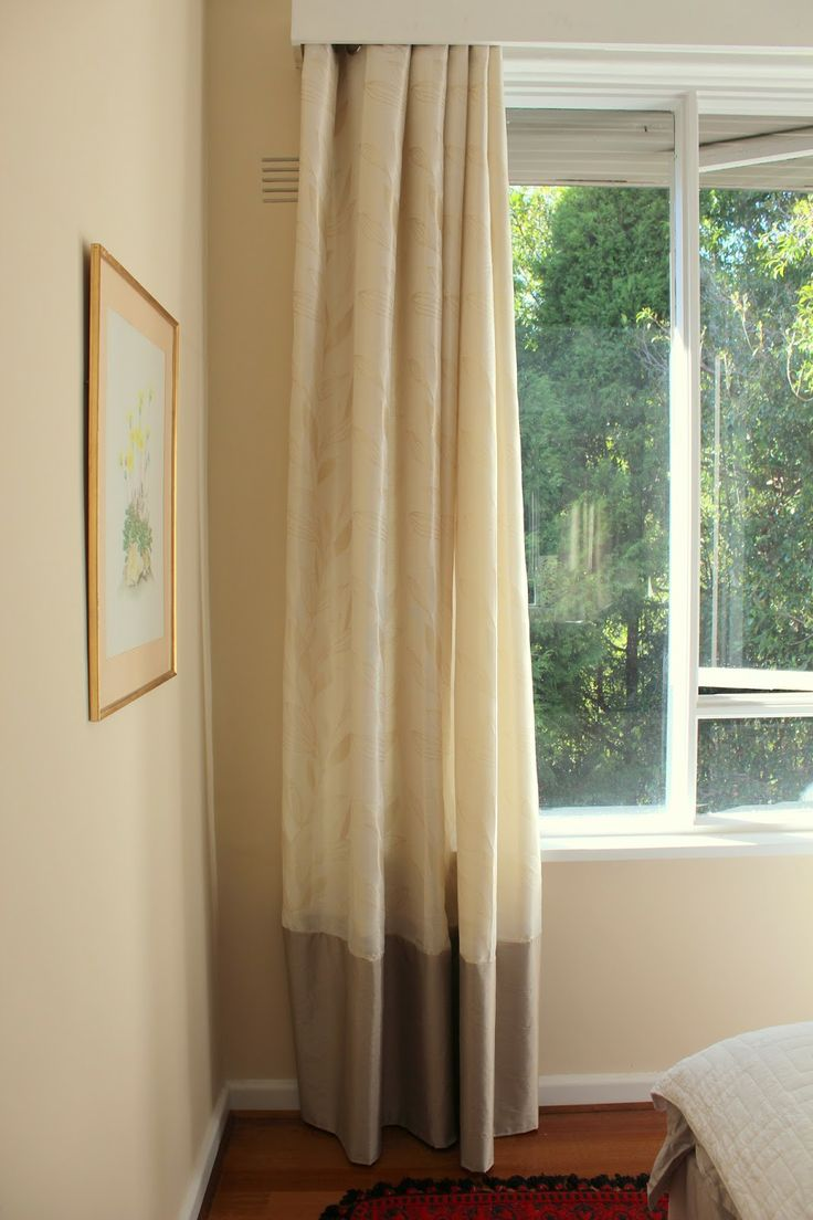 17 best images about curtains how to lengthen and decorate - Narrow window curtain ideas ...