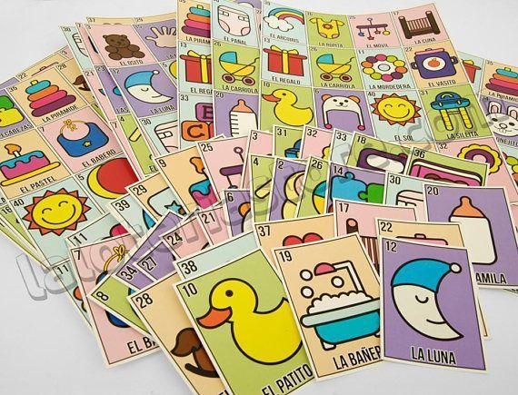 Baby Shower Loteria Spiel – Minimalist Bebe Mexican Bingo Brettspiel -Family New …   – Baby
