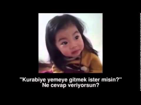 Koreli Minik Kızın Yabancılarla İmtihanı - YouTube