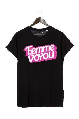 """T-shirt noir """"barbie femme de voyou"""" by FLORETTE PAQUERETTE 32€"""