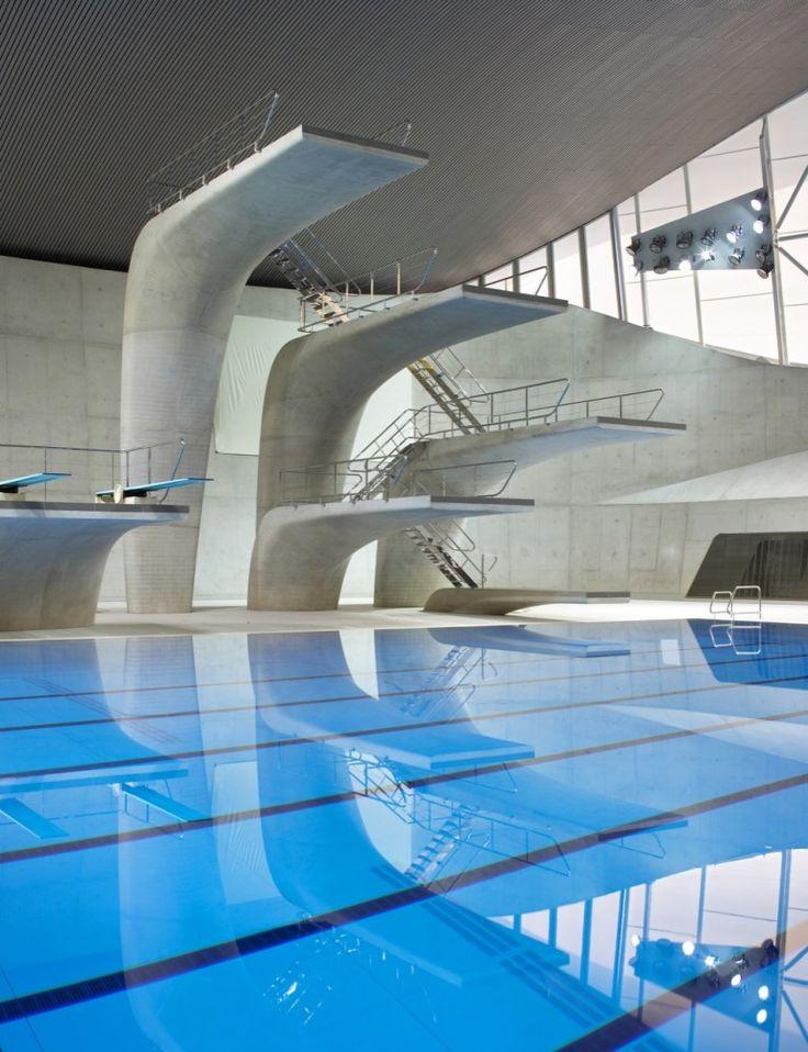 london aquatics centre for 2012 summer olympics by zaha hadid architects. UK.