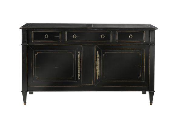 Enfilade noire arthur 2 portes et 3 tiroirs structure for Commode monsieur meuble