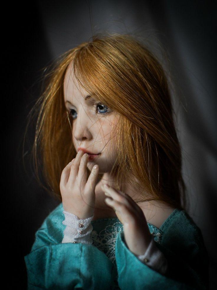 """Alice"". Handmade OOAK doll. #romantic #wonders #doll #OOAK #home #decor #decoration #art #artwork #artdoll #silk #polymer #clay #homemade #handmade #greece #oneofakind #χειροποίητο #πηλος #πολυμερικος #διακοσμηση #σπιτι #κουκλα #τεχνη #πολιτισμός #кукла"