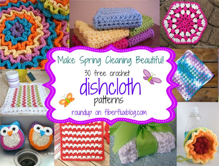 30 Free Crochet Dishcloth Patterns!